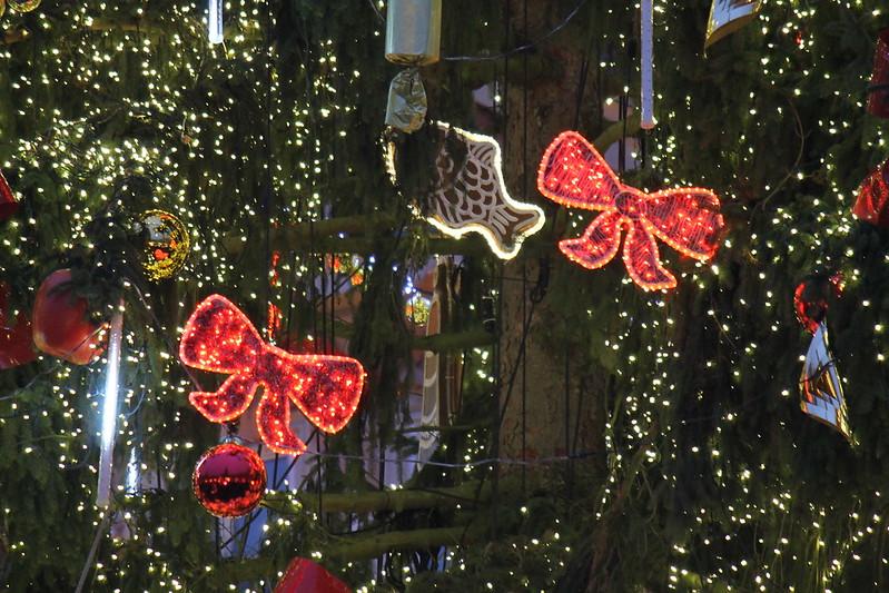 Christmas tree decorations, Christmas Market 2014 in Prague