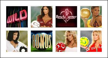 free BenchWarmer Football Girls slot game symbols