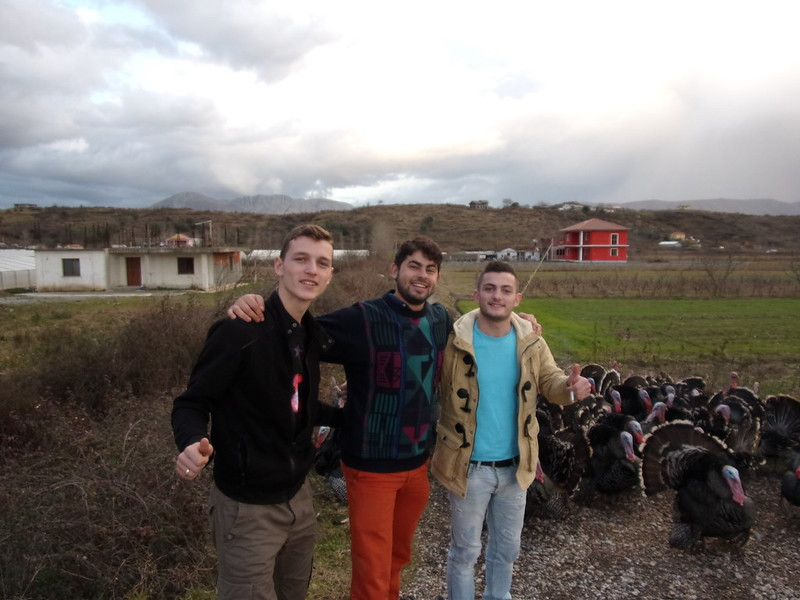 2 Albanian students who let me hitch their taxi ride