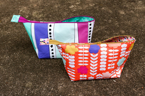 Geometric Bliss Open Wide Pouches