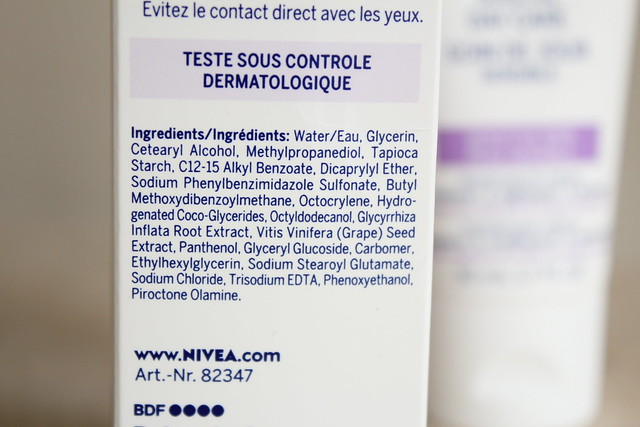 Nivea Sensitive day cream ingredients