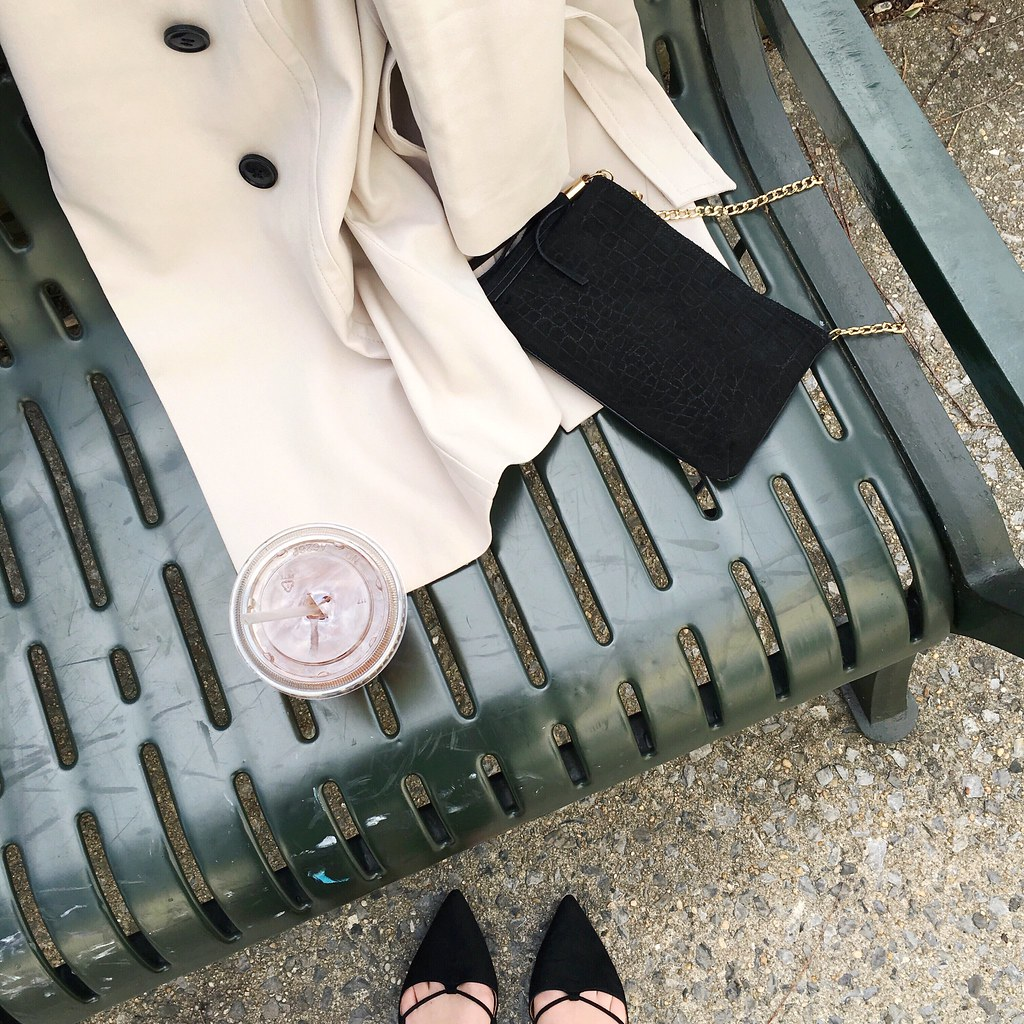 H&M Trench Coat and Zara Flats