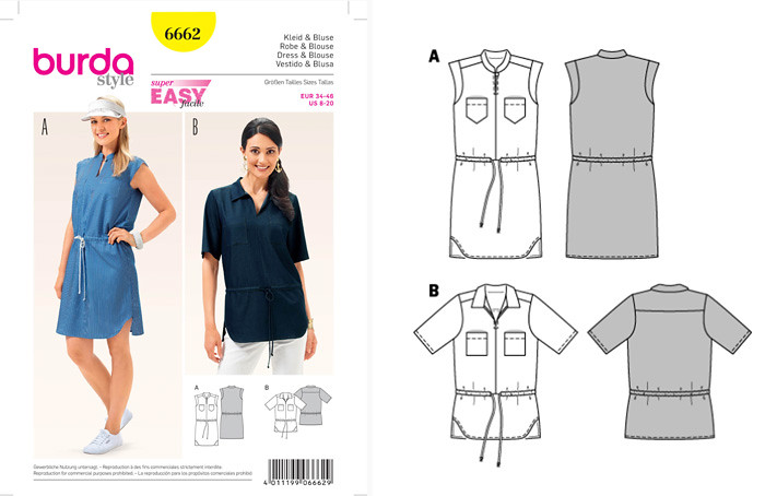 Burda 6662 pattern env