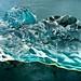 Iceberg in Jökulsárlón's beach