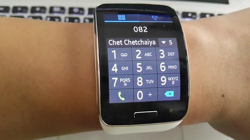 กดโทรศัพท์จากบน Galaxy Gear S ไม่ยากเท่าไหร่