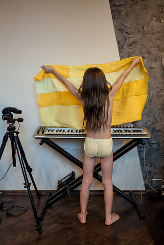 Yellow Sonya Playing Keyboard
