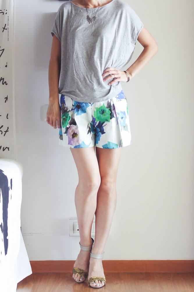 Zara Flower Print Shorts-12