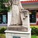 Texcoco Centro, Mexico - Monument to Pedro de Gante - Belgium's Gift to Mexico