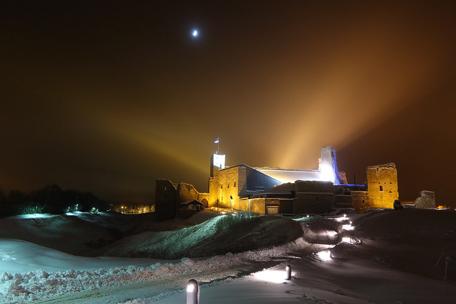 Rakvere Castle in Winter Night