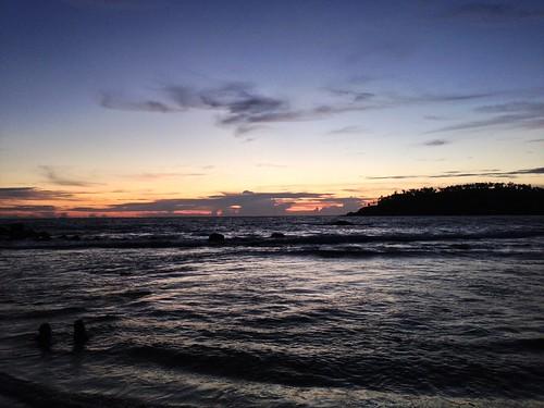 sunset beach nature swim evening srilanka mirissa