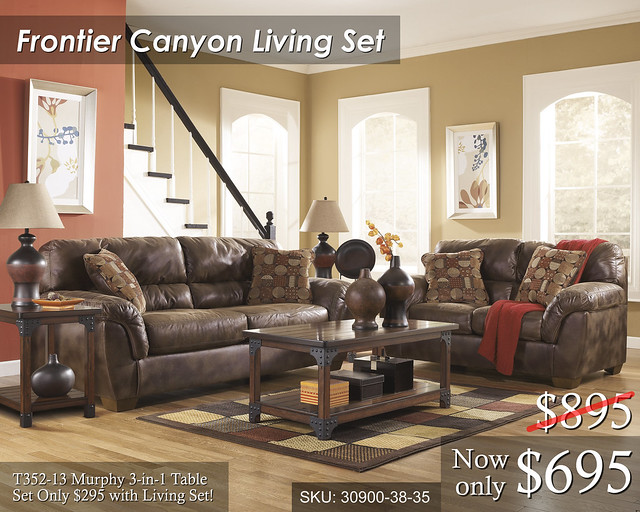 30900-38-35-T352-L139 Frontier Canyon Living Set - PRICED