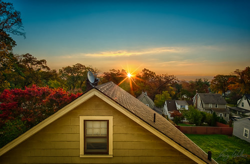 new morning autumn orange house west fall colorful rooftops sony nj jersey suburbs 12mm hdr nex 5t rokinon westorangenj