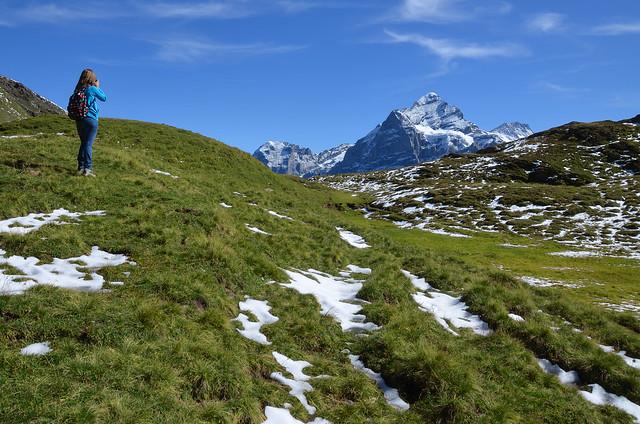 Haciendo fotos de los Alpes
