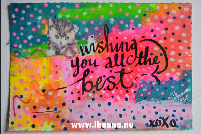 DIY Postcard: Wishing you all the BEST