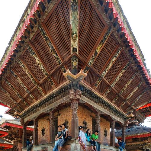 Nepal - Kathmandu - Relaxing At Temple