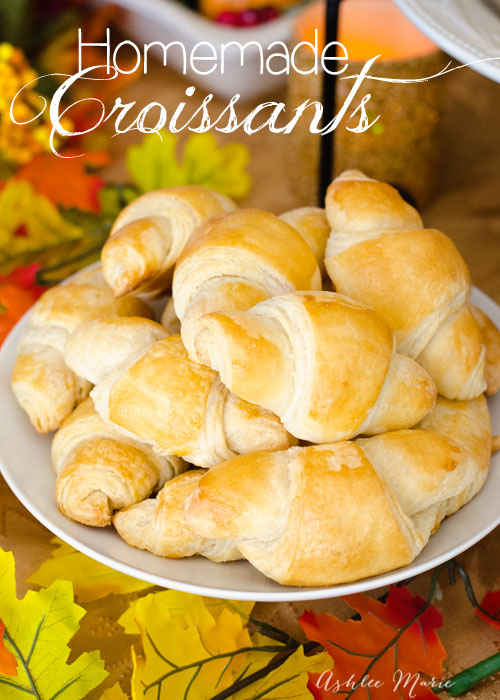 homemade croissants are actually super easy to make, just a little time consuming, but totally worth it.