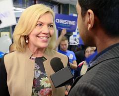 Christine Elliott Getting Interviewed