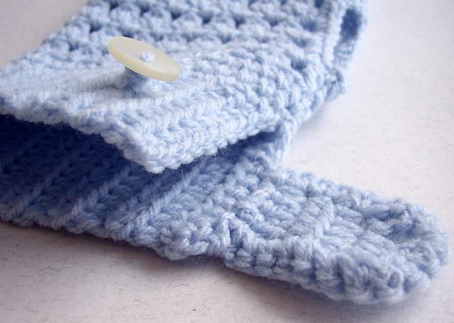 guanti senza dita lana acrilica azzurra 4 bis