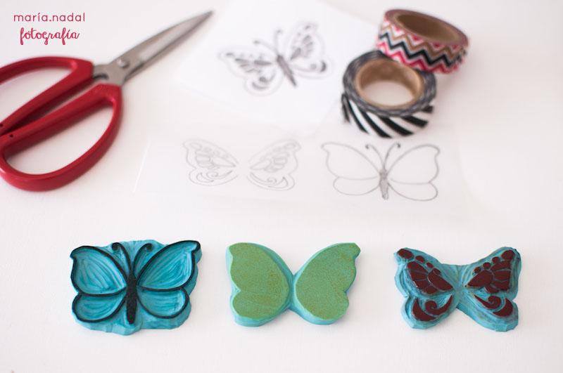 2estampado en capas - mariposa