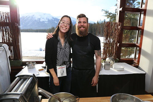 Sharon with Chef Dale MacKay