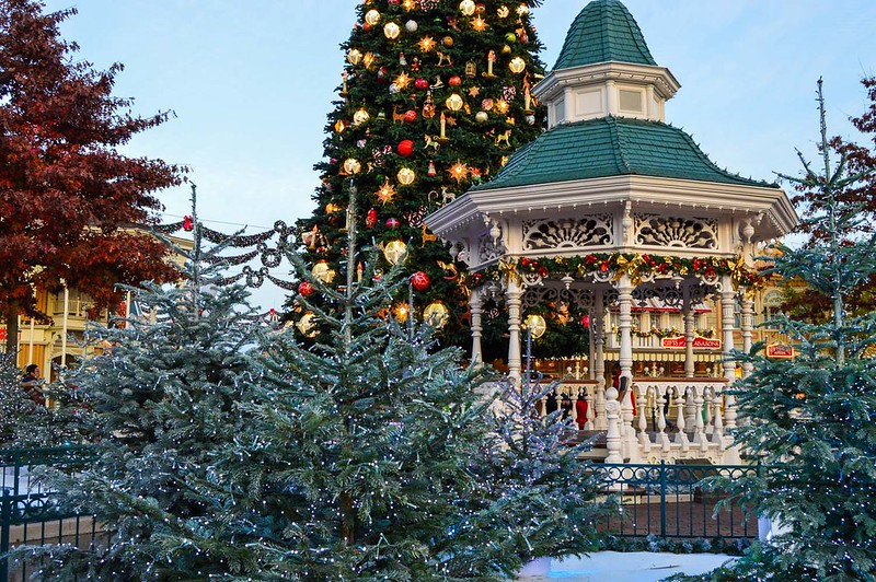 Disneyland Paris Gazebo at Christmas