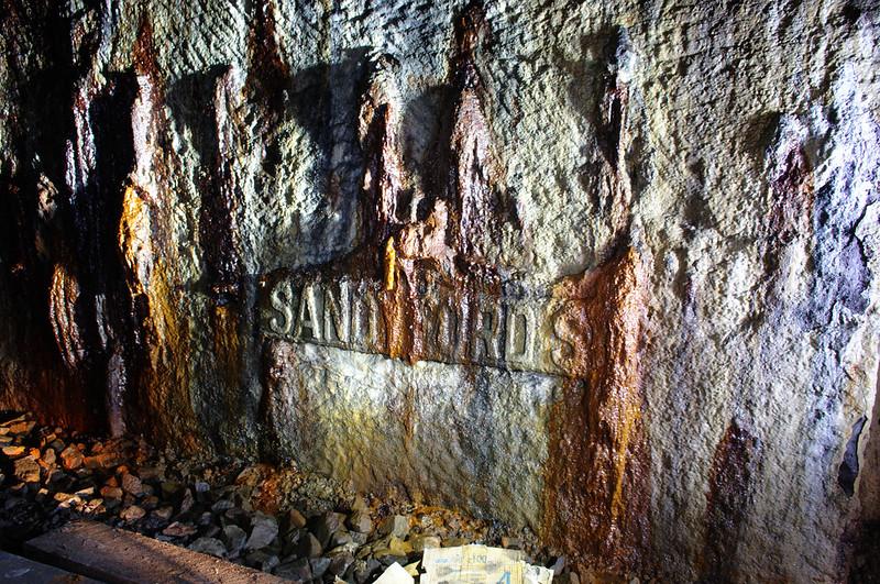 """""""Sandyford Street"""" sign in Kelvingrove Tunnel"""