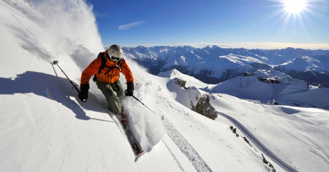 Skipas zdarma v Davosu.