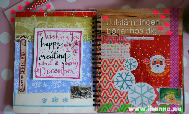 December Journal: Collage and handwriting