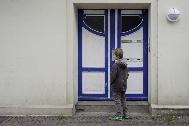 Boy at Front Door
