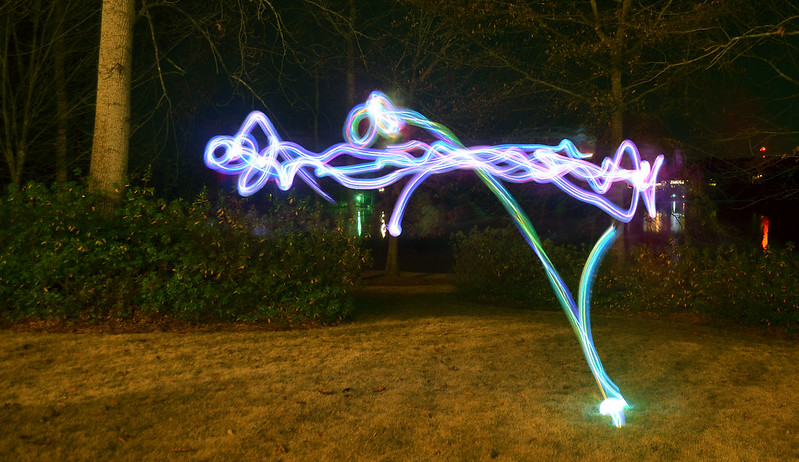light painting, family activity
