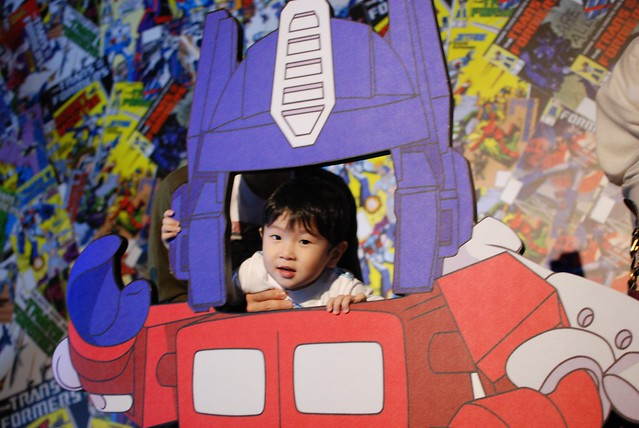 Jerome looking like a really cute Optimus Prime!