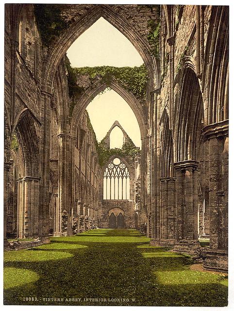 [Abbey interior, looking W., Tintern, England] (LOC)