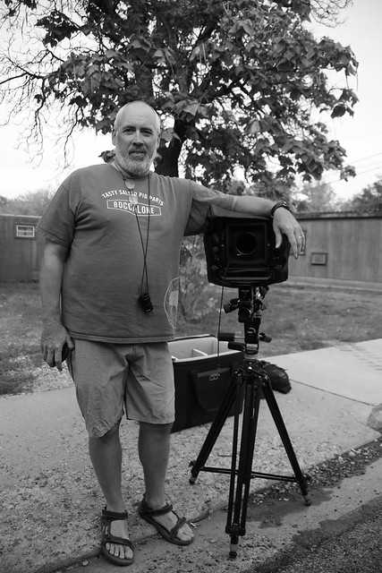 Jon with his large format Ansel Adams style camera