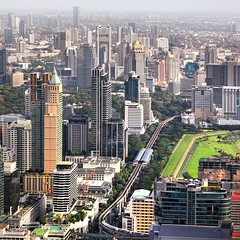 Viewpoint of Baiyoke tower - highest rooftop of Thailand