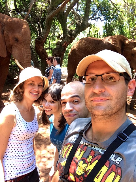 At the elephant sanctuary by the Hartbeespoort dam