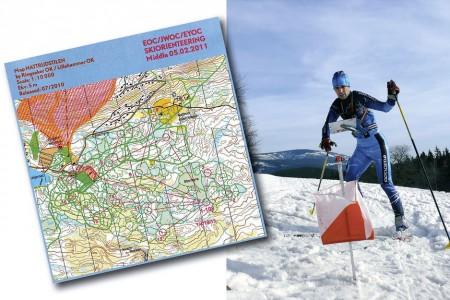 Lyžařský orientační běh (LOB) - běžky, buzola a mapa
