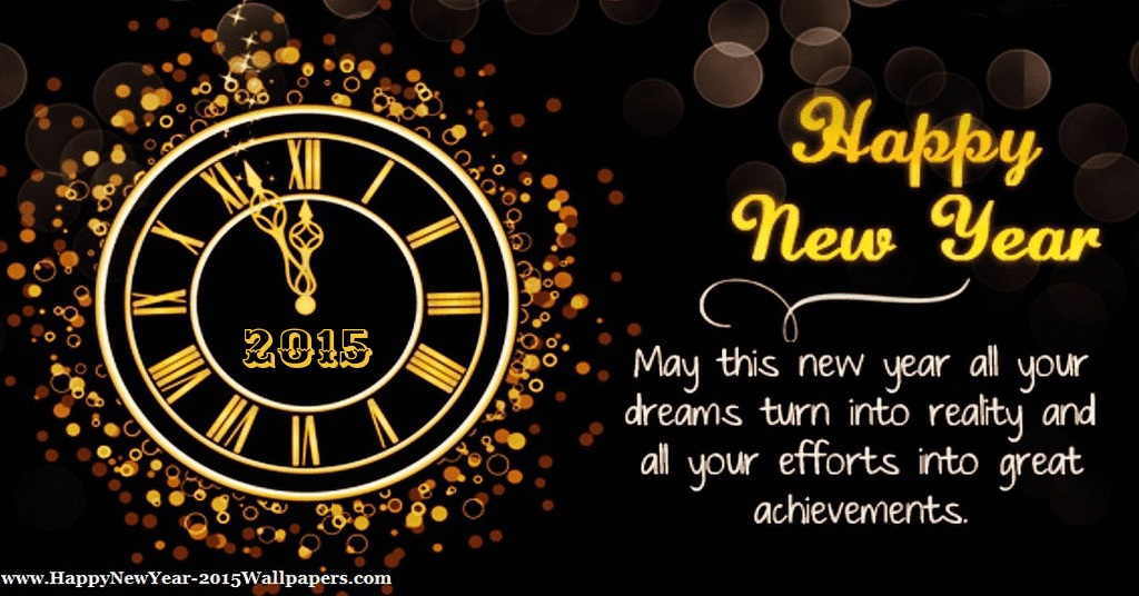 Happy New Year 2015 Clock Card Hd Wallpaper Stylish Hd Wallpapers