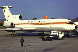 Tarom Tu 154 YR-TPG at BHX