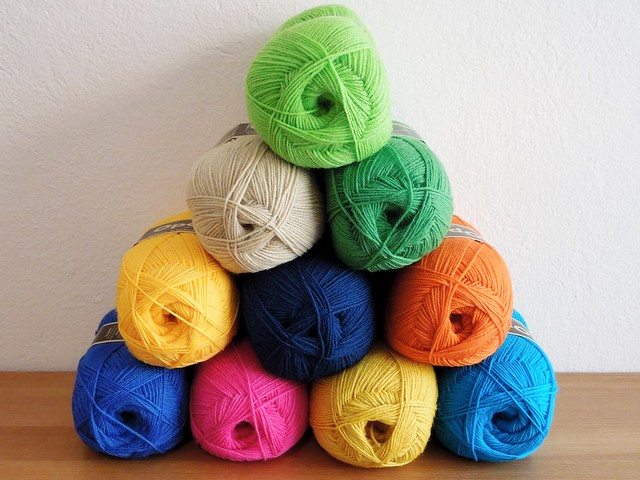 Opal and West Yorkshire Spinners solid color sock yarns.Available in Greece only at Plectorium in Larisa.