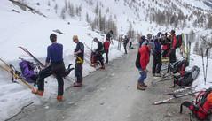 Koniec skitury Haute Route w Zermatt.