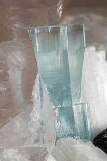 beryl var. aquamarine, tourmaline var. schorl, quartz, feldspar var. orthoclase