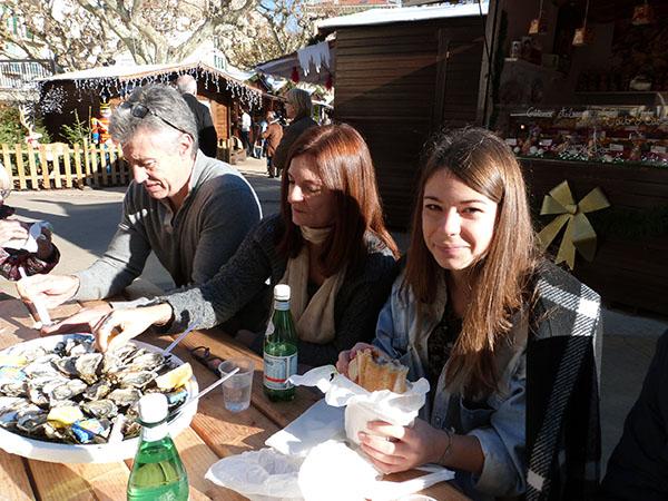 huîtres sur les Allées