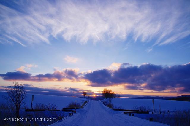冬の夕暮れ1