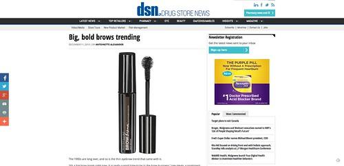 Big  bold brows trending   Drug Store News