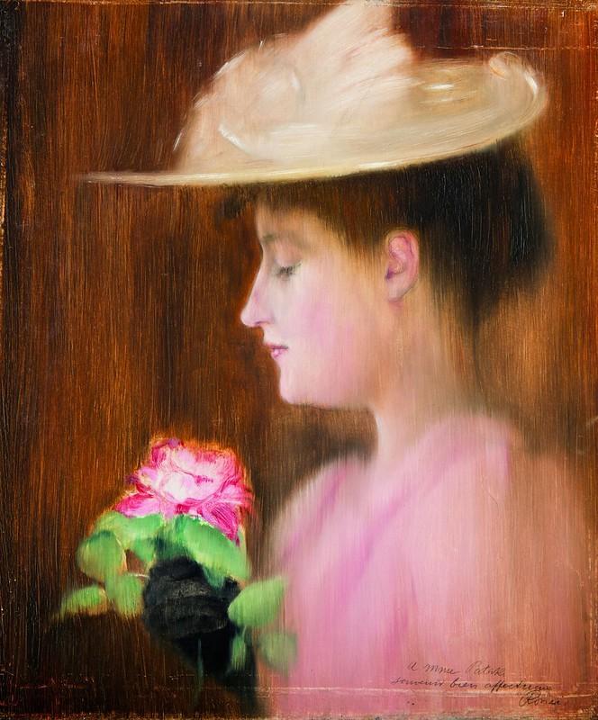 Rippl-Rónai-József - Patakiné portréja (1892)