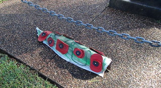 Memorial poppies by the Kendall Community Pre-school