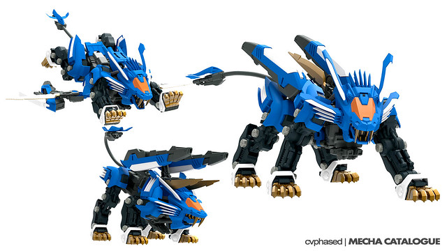 Zoids Aggressive Blade Liger AB - CG Renders