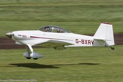 G-BXRV - 2002 build Vans RV-4, arriving on Runway 26L at Barton
