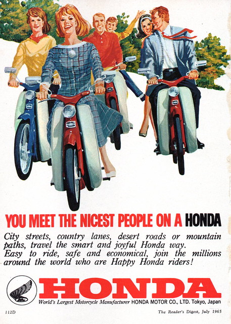 '65 Honda Scooter Motorcycle Aussie Original Magazine Advertisement352