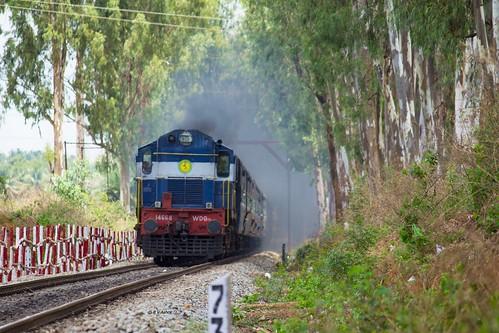 ir ed hei fp sr erode alco indianrailways swr 14668 56277 wdg3a fastpassenger cmgrypr heggere chikmagaluryeshwantapur